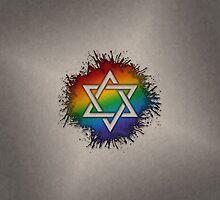 LGBT Judaic Star of David by LiveLoudGraphic