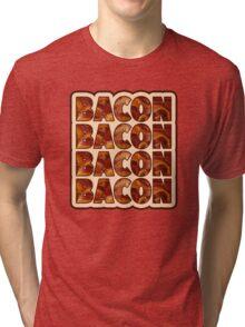 Bacon Bacon Bacon Bacon - 4 Slices of Bacon Tri-blend T-Shirt