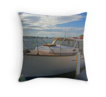 The family boat Throw Pillow