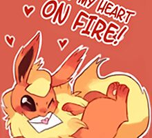 Flareon Love by CutestPikachu