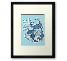 Glaceon Love Framed Print
