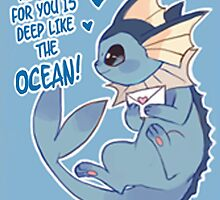 Vaporeon Love by CutestPikachu