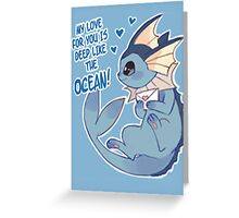Vaporeon Love Greeting Card
