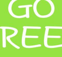GO GREEN Heart Sticker