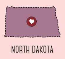North Dakota State Heart One Piece - Short Sleeve
