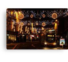 Christmas Lights, North St, Brighton Canvas Print