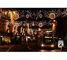 Christmas Lights, North St, Brighton Photographic Print