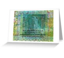 Buddha positive inspiring quote Greeting Card