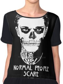 NORMAL PEOPLE SCARE ME Chiffon Top