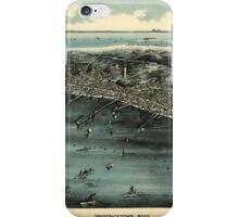 Panoramic Maps Provincetown Mass iPhone Case/Skin