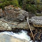 Waterfall Pano, Asheville, NC, USA. by Chanel70