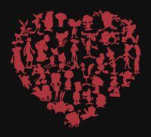 I Love Cartoons One Piece - Short Sleeve