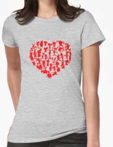 I Love Cartoons Womens Fitted T-Shirt