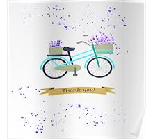 Lavender bicycle. Thank you. Poster
