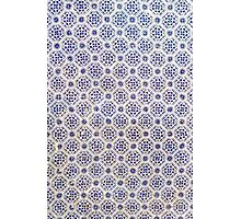 Iberian Moorish Style Blue Pattern Photographic Print