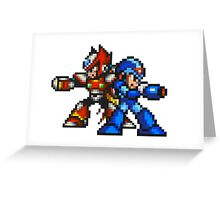 Megaman X And Zero Greeting Card