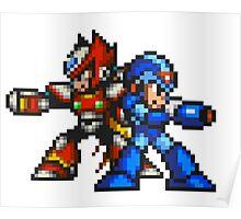Megaman X And Zero Poster