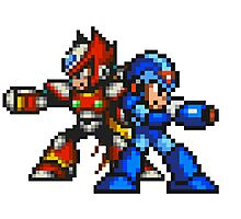 Megaman X And Zero Photographic Print