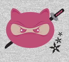 Ninja in Pink One Piece - Long Sleeve