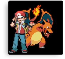 Red and Charizard Canvas Print
