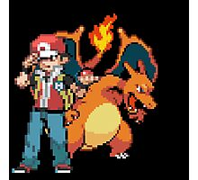 Red and Charizard Photographic Print