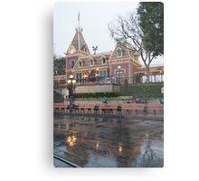 Rainy Main Street Station Metal Print