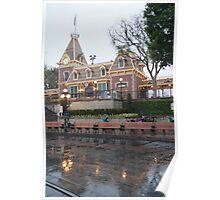 Rainy Main Street Station Poster