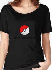 Pokemon Go Pokeballs - Just Throw It Women's Relaxed Fit T-Shirt
