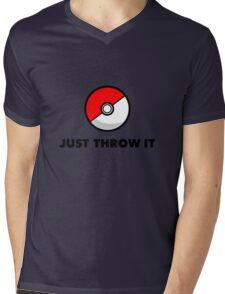 Pokemon Go Pokeballs - Just Throw It Mens V-Neck T-Shirt