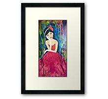 Girl in Waiting Framed Print