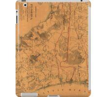 Vintage Map of Northern Florida (1864) iPad Case/Skin
