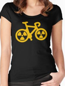Radioactive Bicycle Women's Fitted Scoop T-Shirt