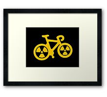 Radioactive Bicycle Framed Print