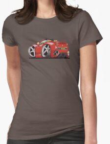 Ferrari California Caricature Womens Fitted T-Shirt