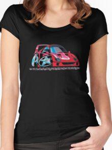 Ferrari F40 Caricature  Women's Fitted Scoop T-Shirt