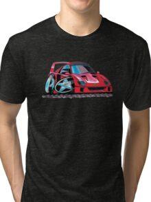 Ferrari F40 Caricature  Tri-blend T-Shirt