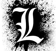 Death Note L's Symbol (Splater Ver.) by Ninjaza