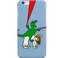 Dinosaur Riding Jesus iPhone Case/Skin
