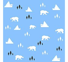 White bear pattern Photographic Print