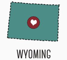 Wyoming State Heart One Piece - Long Sleeve