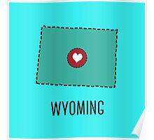 Wyoming State Heart Poster