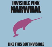 Invisible Pink Narwhal Kids Clothes