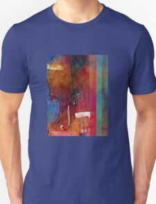 Violin Abstract One Unisex T-Shirt