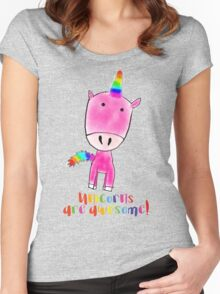 Unicorns are awesome Women's Fitted Scoop T-Shirt