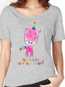 Unicorns are awesome Women's Relaxed Fit T-Shirt