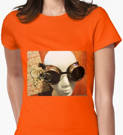 Steampunk Goggles 1.2 Womens Fitted T-Shirt