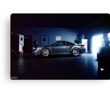 Garage Porsche  Canvas Print