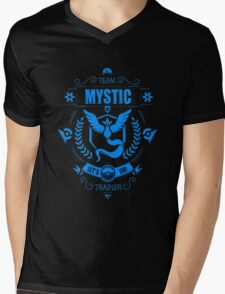 Team mystic trainer Mens V-Neck T-Shirt