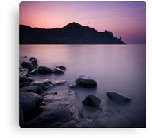 Sunrise above the stones Canvas Print