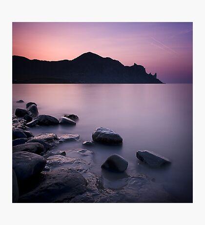 Sunrise above the stones Photographic Print